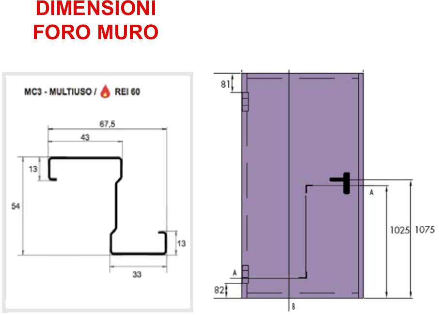Porta tagliafuoco classic rei 120 2 ante securfire for Porte rei 60 treviso