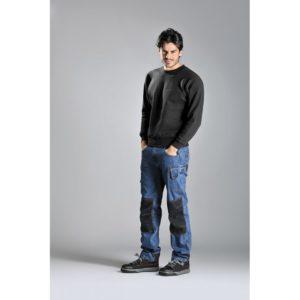 Pantalone jeans MAORI con alloggiamento per ginocchiere